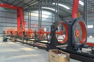 cnc oceľová klietka zváranie stroj oceľ valcový šev použitie zvárač pre výstavbu